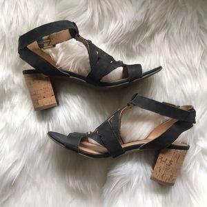 104. Black Franco Sarto Heeled Sandals